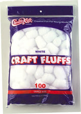 Craft Fluffs - White - 100 Pieces