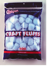 Craft Fluffs - Blue - 100 Pieces