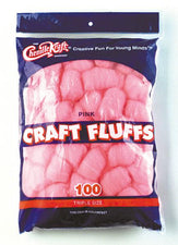 Craft Fluffs - Pink - 100 Pieces