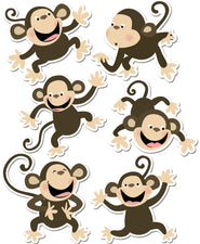 Monkeys 6In Designer Cut-Outs