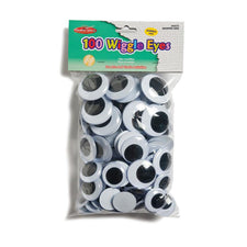 Jumbo Wiggle Eyes, 100 Per Bag Black