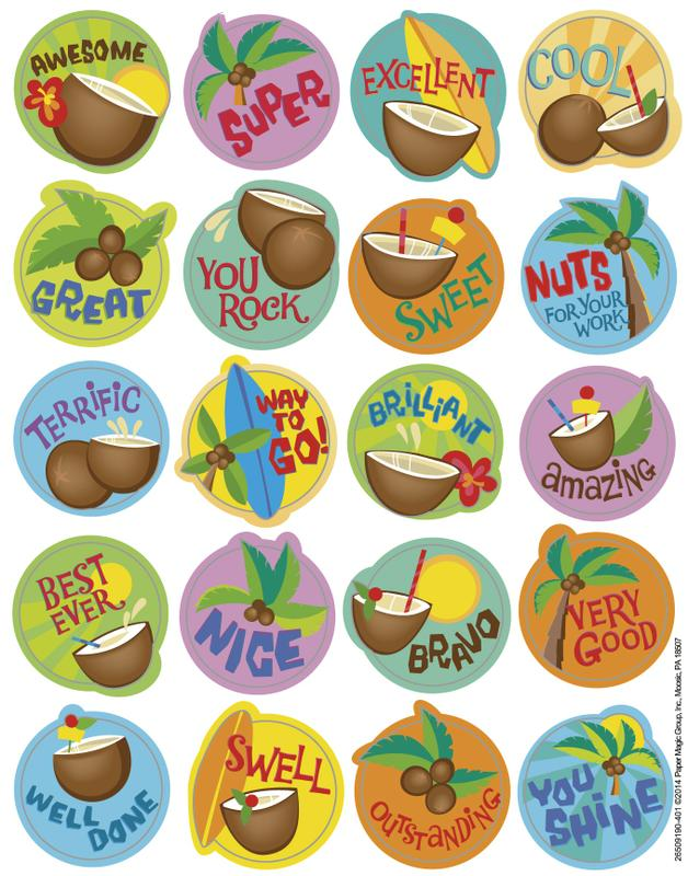 Coconut Scented Stickers