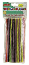 "Chenille Stems 6"" Assorted Colors, 100 Per Bag"