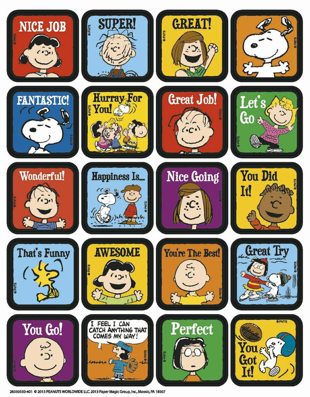 Peanuts® Motivational Theme Stickers