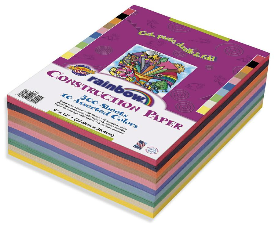 Construction Paper Gw Lwt Assorted 9 x 12 500Rm