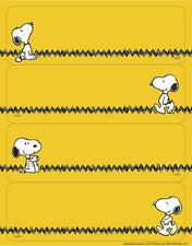 Peanuts® Yellow Label Stickers