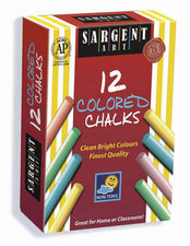 Sargent Art Dustless Chalkboard Chalk, Assorted Colors