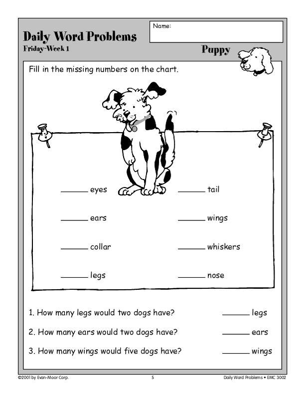 Evan-Moor Daily Word Problems, Grade 2 | EMC3002