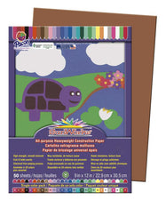 "SunWorks® Construction Paper, 9"" x 12"" Brown"