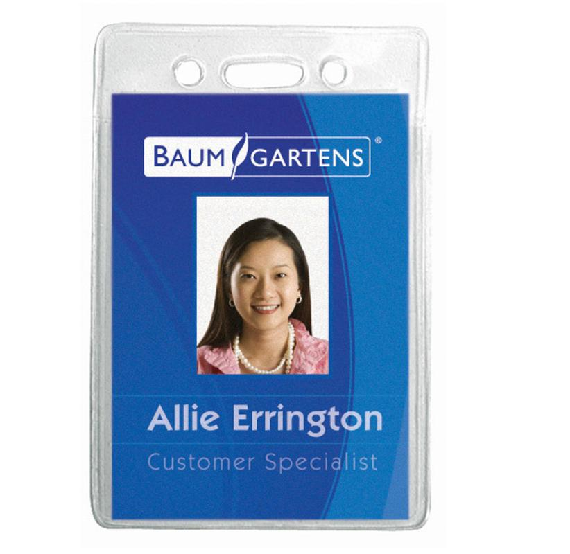 Name Badge Holder Vertical 12pk Baum67820 Supplyme