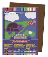 "SunWorks® Construction Paper, 9"" x 12"" Dark Brown"