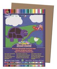 "SunWorks® Construction Paper, 9"" x 12"" Light Brown"