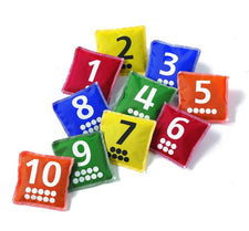 Number & Dot Bean Bags, Set of 10