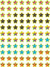 Poppin' Patterns Stars Hot Spots Stickers