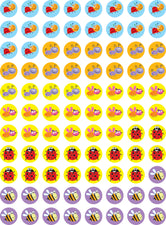 Bugs Hot Spots Stickers