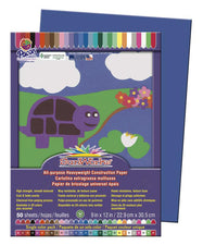 "SunWorks® Construction Paper, 9"" x 12"" Dark Blue"