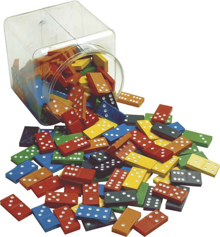 Double-Six Hardwood Color Dominoes