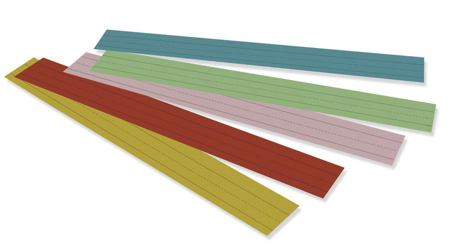 "Pacon Rainbow® Kraft Sentence Strips, 3"" x 24"" Assorted"