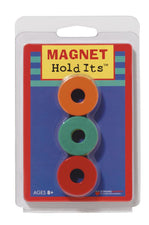 "Six 1 1/8"" Ceramic Ring Magnets"