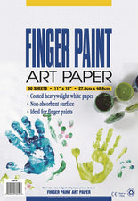 "Pacon® Fingerpaint Paper, 11"" x 16"" White"