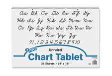 "Chart Tablet, 24"" x 16"", Unruled"