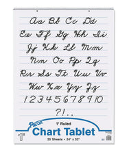 "Chart Tablet, 24"" x 32"", Ruled 1"", 25 Count"