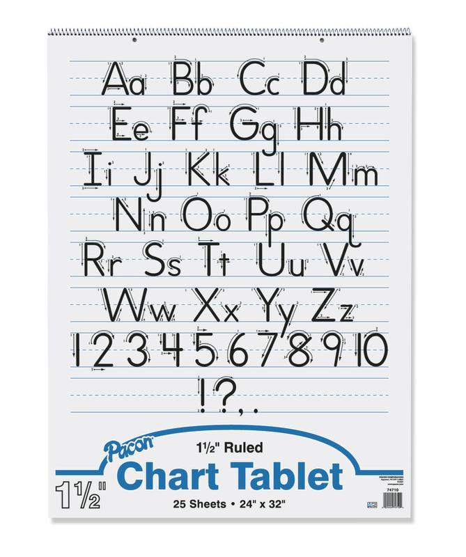 "Chart Tablet, 24"" x 32"", Ruled 1 1/2"""