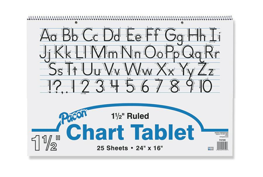 "Chart Tablet, 24"" x 16"", Ruled 1 1/2"""