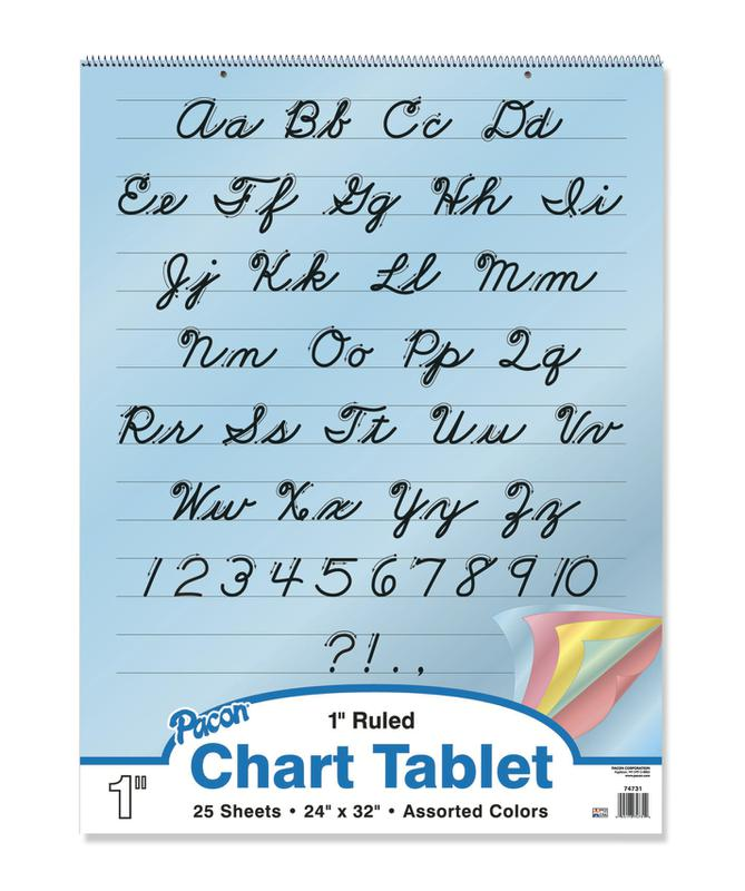 "Colored Paper Chart Tablets, 24"" x 32"", Ruled 1"""