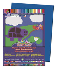 "SunWorks® Construction Paper, 9"" x 12"" Bright Blue"