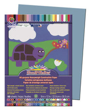 "SunWorks® Construction Paper, 9"" x 12"" Sky Blue"