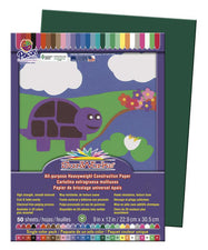 "SunWorks® Construction Paper, 9"" x 12"" Dark Green"