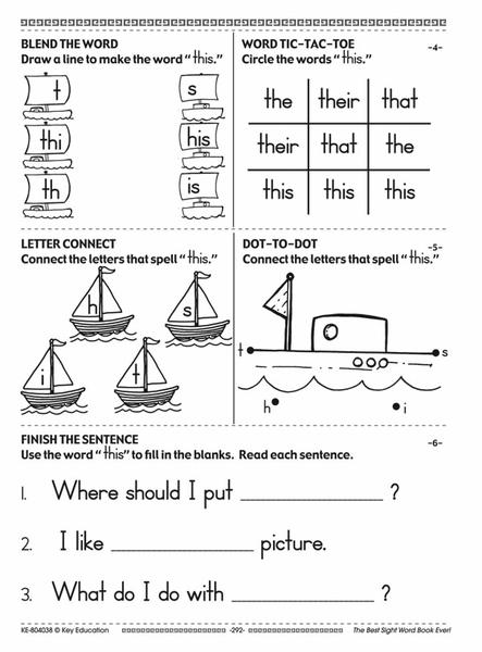 The Best Sight Word Book Ever! Resource Book