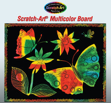 Scratch Art Soft Scratch Board - Multicolor with Stylus (10 boards)
