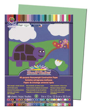 "SunWorks® Construction Paper, 9"" x 12"" Light Green"