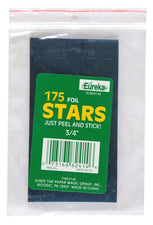 Stickers Foil Stars 3/4 Inch Blue