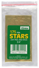 Stickers Foil Stars 3/4 Inch 175/Pk Gold