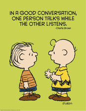 Peanuts® Talk And Listen Poster