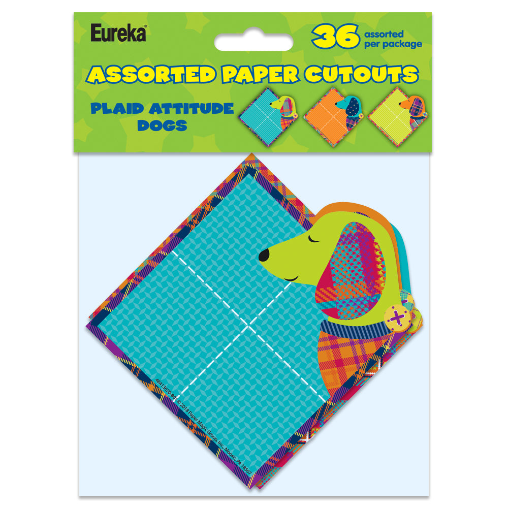 Plaid Attitude Dogs Paper Cut-Outs