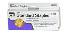 Chisel Pointed Standard Staples, 5,000 Per Box