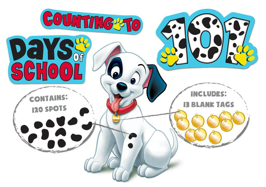 101 Dalmatians Spot On Counting Bulletin Board Set
