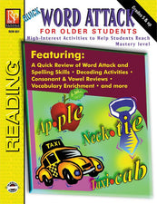 Remedia Publications Word Attack For Older Students Reading Activity Book