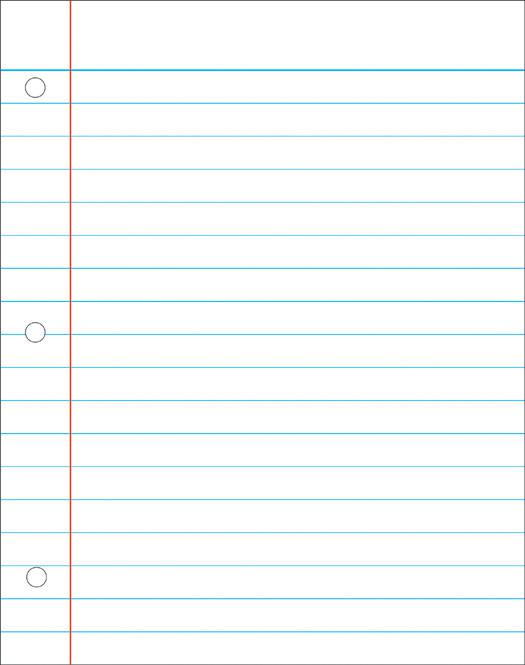 Notebook Paper Write On/Wipe Away Chart