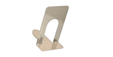 "Tan Bookends 9"" Steel, Non-Skid"