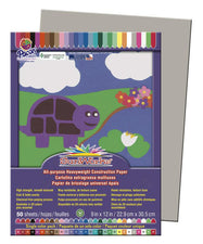"SunWorks® Construction Paper, 9"" x 12"" Gray"