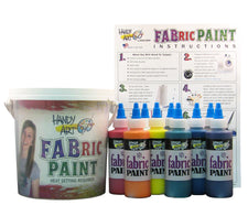 Handy Art Fabric Paint Bucket Kit 9 - 4oz Bottles
