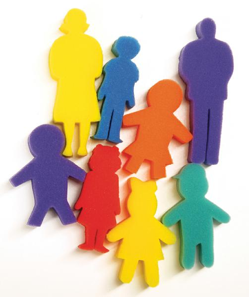 Paint Sponges - People Set - 8 Pieces