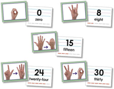 North Star Teacher Resources American Sign Language Number Cards (0-30)