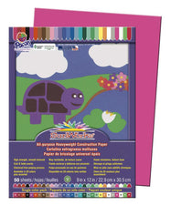 "SunWorks® Construction Paper, 9"" x 12"" Hot Pink"