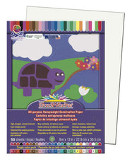 "SunWorks® Construction Paper, 9"" x 12"" White"